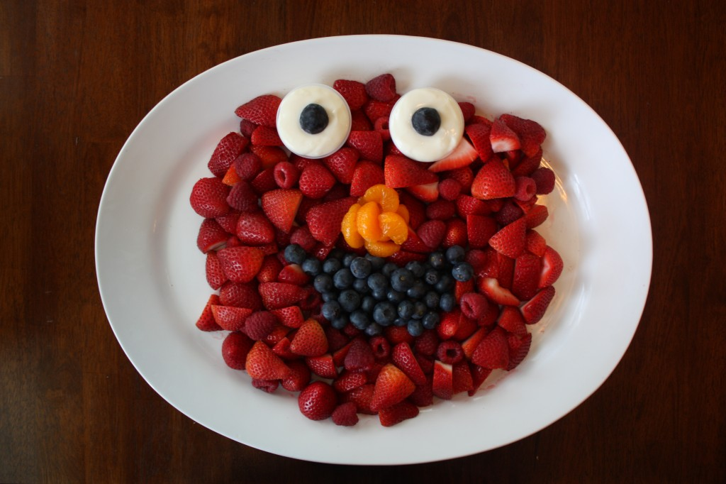 Elmo Fruit Tray And Other Birthday Party Ideas