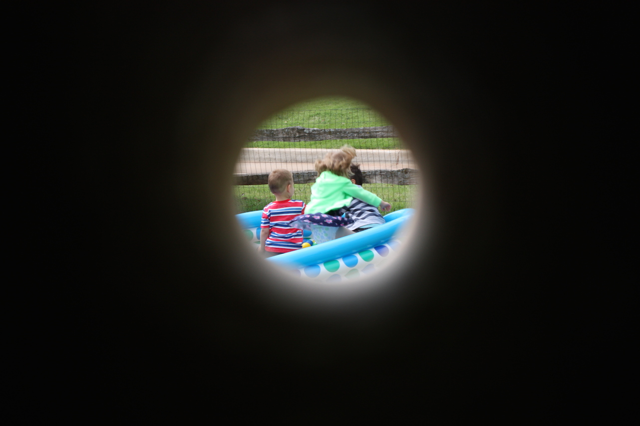 Three little pirates through a telescope